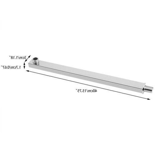 16inch 40cm Wall Mounted Shower Extension Arm Rain Shower Head