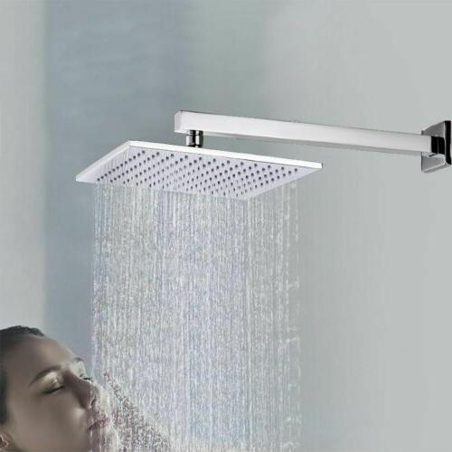 16inch Shower Extension Arm Square Wall For Rain 40cm