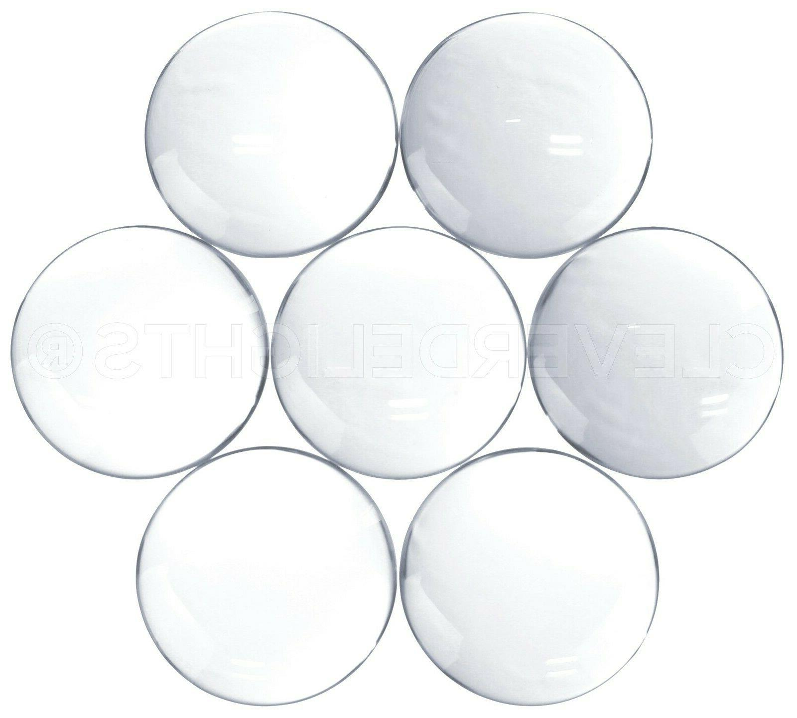 30mm round glass cabochons clear magnifying dome