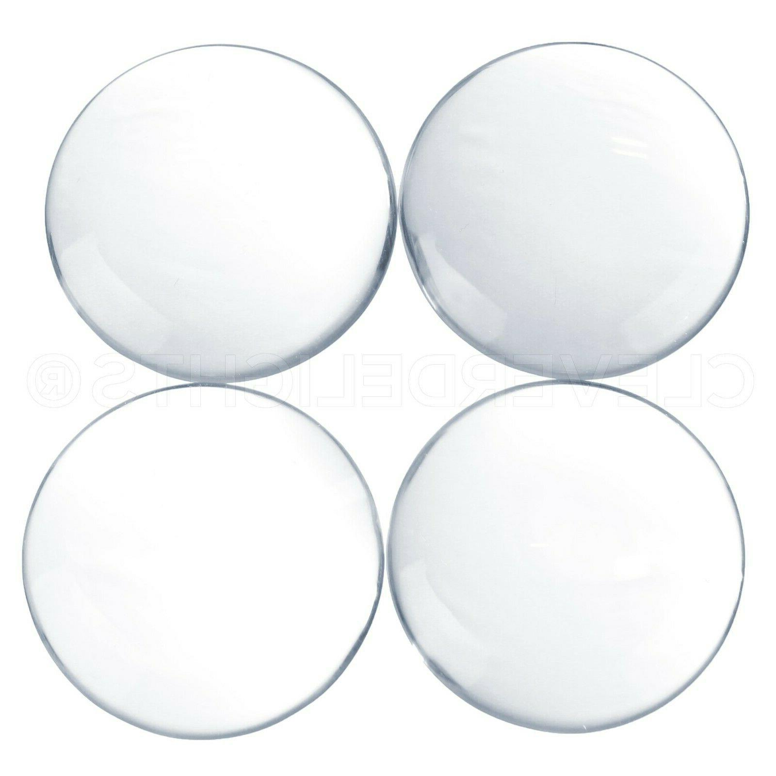 40mm round glass cabochons clear magnifying dome