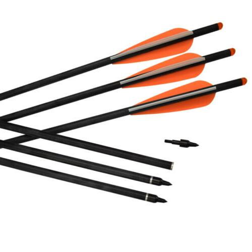 6x Crossbow Carbon Arrows Hunting