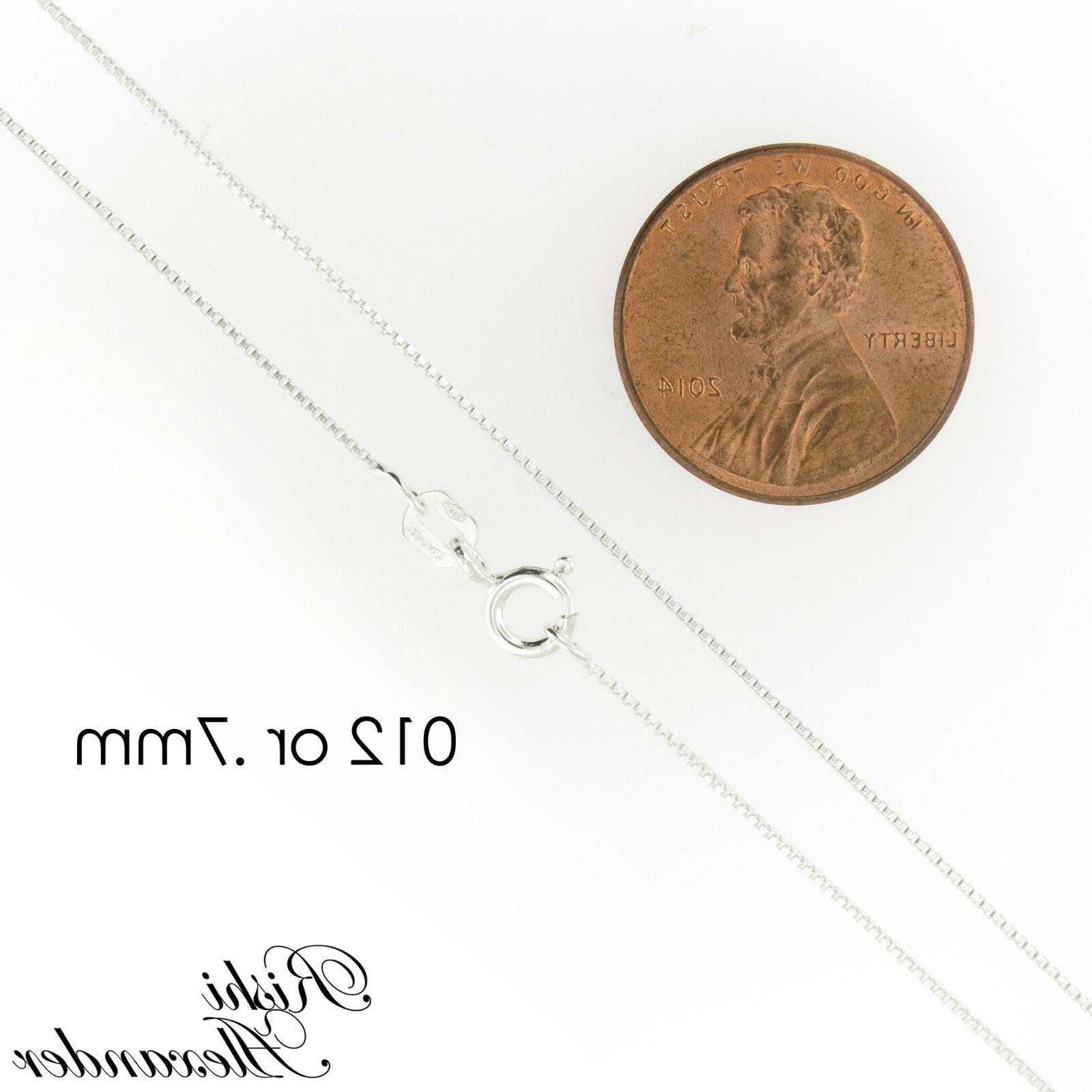 925 Sterling Silver Chain All Stamped Italy