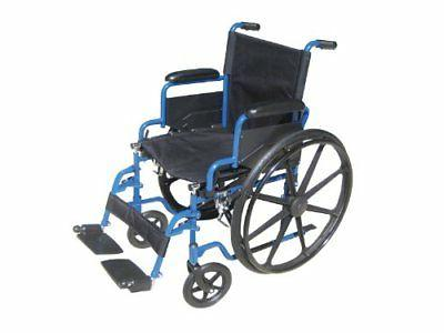 Drive Blue Wheelchair with Flip Desk Elevating Rest