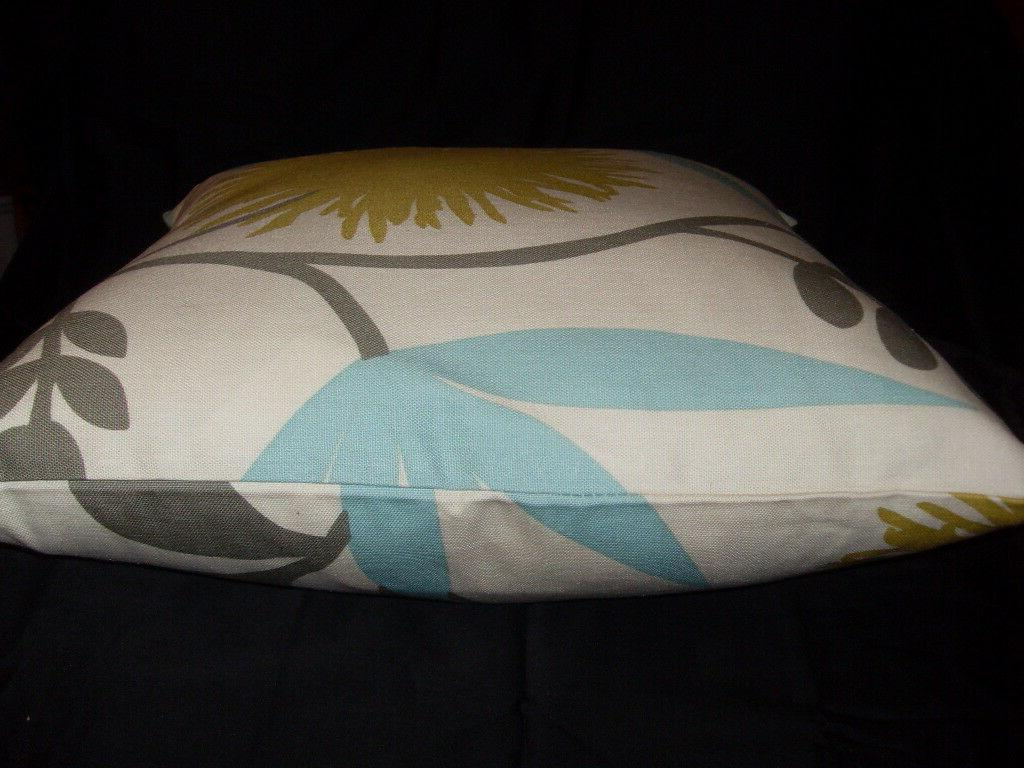 Decorator cotton inch pillow cover teal