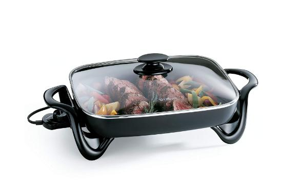 Electric 06852 Electric Skillet with Glass
