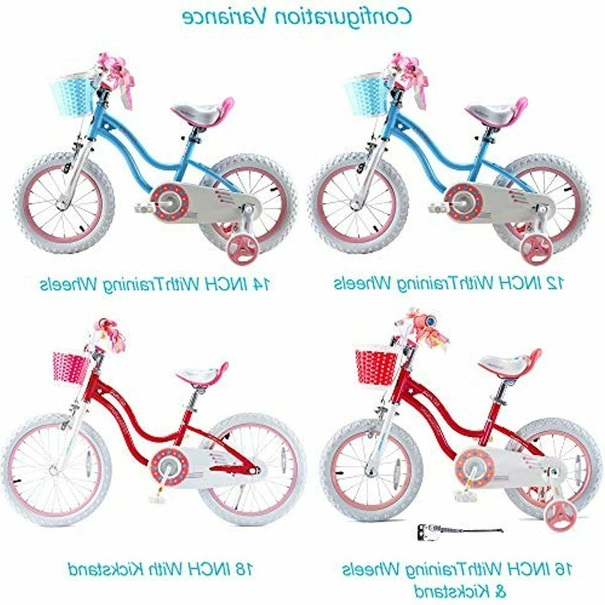 Girls Kids Bicycle 3-9 Years Basket and