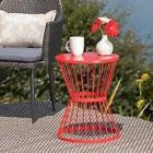 Lassen Outdoor 16-inch Round Side Table by Christopher Knigh