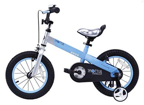 """RoyalBaby CubeTube Matte Buttons 16"""" Bicycle for Kids, Blue"""