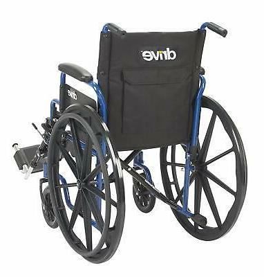 Medical Blue Streak Wheelchair with Arms,