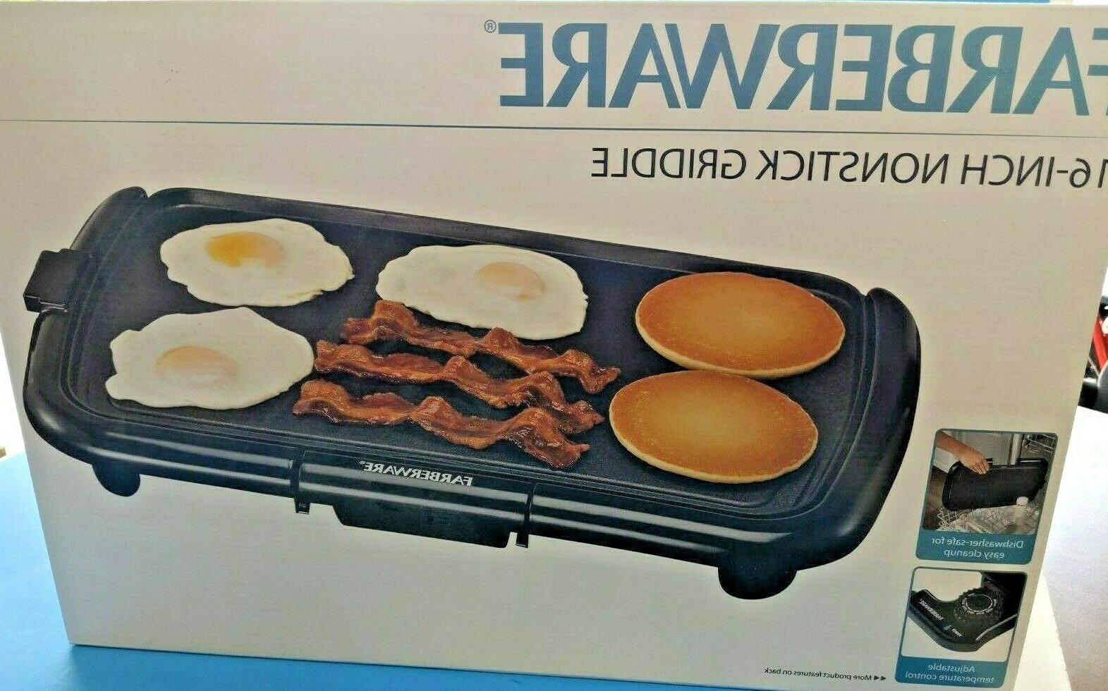 new 16 inch electric nonstick griddle adjustable