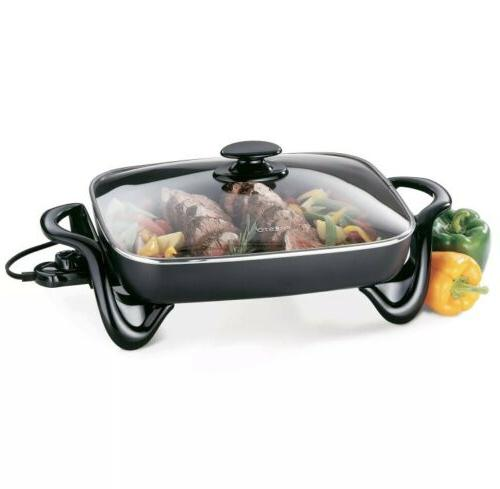 NEW Presto 16 inch Electric Skillet With Glass Cover Lid, Mo