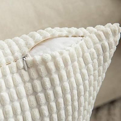 MIULEE Decorative Throw Covers Soft Solid Cushion Case