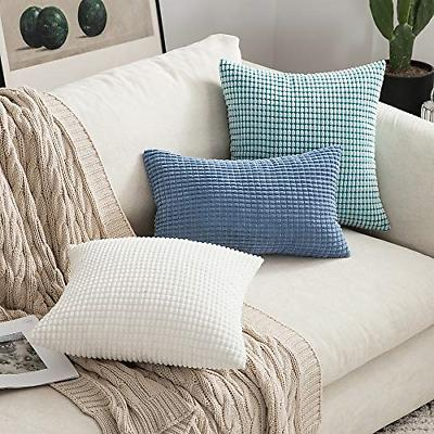 MIULEE Decorative Throw Pillow Soft Corduroy Case