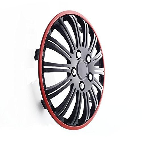 Pilot Universal Fit Cobra Black and Chrome Red Wheel of