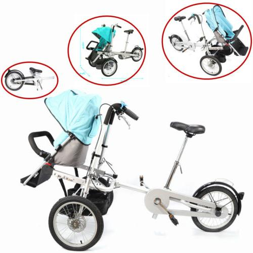 portable steel baby stroller and carrier bike