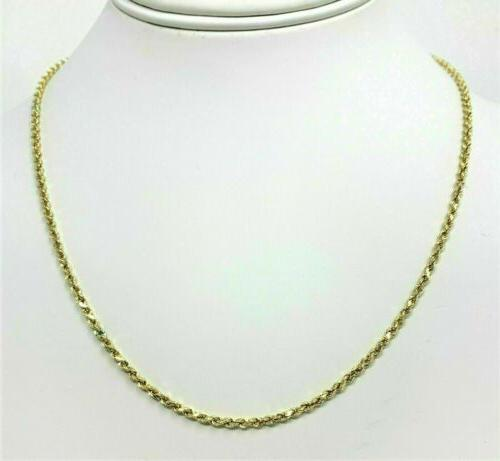 real 14k yellow gold necklace gold rope