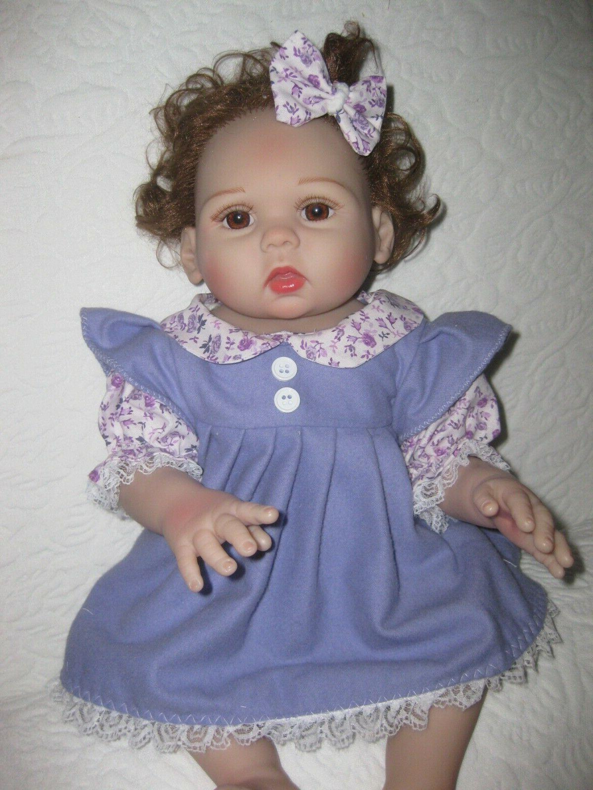 reborn doll clothes 16 inch solid purple