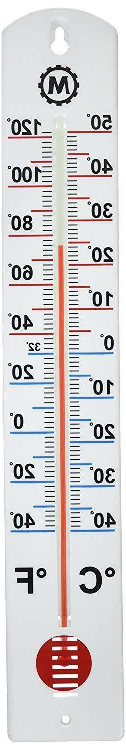 Vertical Outdoor Thermometer 16 Inch With Extra-Large Numera