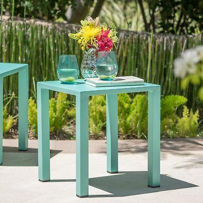 Windsor Outdoor 16-inch Square Aluminum Side Table by Christ