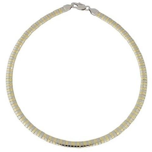 women s two tone silver and yellow
