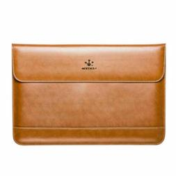 LENTION Leather Laptop Sleeve Bag Cover Case Pouch for MacBo