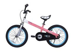 "RoyalBaby CubeTube Matte Buttons 16"" Bicycle for Kids, Pink"