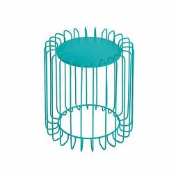 Millie Outdoor Modern 16-Inch Tall Wire Metal Side Table