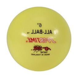 """Sportime Multi-Purpose Inflatable All-Ball, 6"""", Yellow"""
