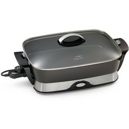 New Presto 06857 16-inch Electric Foldaway Skillet, Black, F