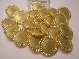 New Lots of Italian Gold Metal Buttons sizes 11/16' inch