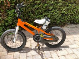 NEW Royalbaby Kids Bike 16 inch Orange with Kickstand MSRP $
