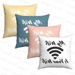 NEW Wifi symbol decorative Square cushion Free WIFI throw pi