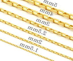 OneDayShip 18K Gold Plated Mens Womens Stainless Steel Long