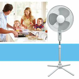 Oscillating Pedestal Stand Fan Quiet Adjustable 16-Inch 3 Sp