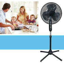Oscillating Pedestal 16-Inch Stand Fan Quiet Adjustable 3 Sp
