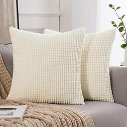 MIULEE Pack of 2 Decorative Throw Pillow Covers Soft Corduro