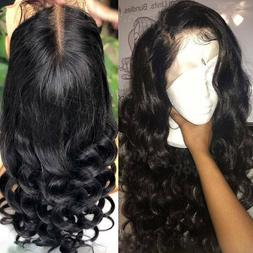 Pre Plucked Full Lace Front Wig 100% Peruvian Human Hair Wig