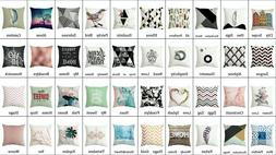 Premium Design Decorative Square Throw Pillow Covers 16x16 I