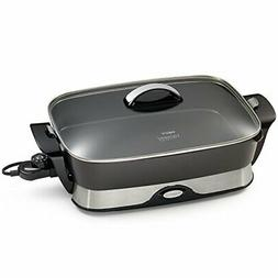 Presto 06857 16-inch Electric Foldaway Skillet, Black Cast A