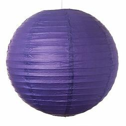 "Purple Paper Party Wedding Lanterns - 12"", 16"" and 20"" sizes"