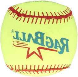Sportime Ragball with Polyester Cover Softball, Yellow, 16""