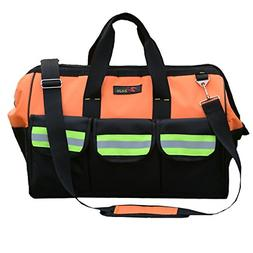 ZOJO Reflective Tool Bags For Men & Women 16 inch Wide Mouth