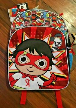 RYAN'S WORLD BACKPACK with CAPE 16 Inch Super Cool Kids