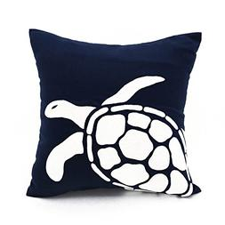 KainKain Sea Turtle Decorative Throw Pillow Cover, Nautical