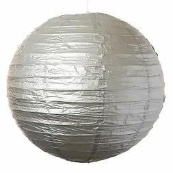 """Silver Paper Party Wedding Lanterns - 12"""", 16"""" and 20"""" size"""