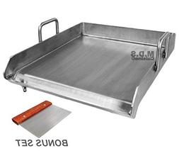 """Stainless Steel Flat Top Comal Plancha 18""""x16"""" inch BBQ Grid"""