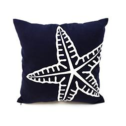 KainKain Nautical Throw Pillow Cover, Starfish Ocean Theme D
