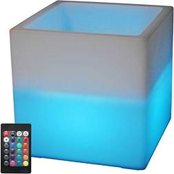 Sunnydaze Indoor/Outdoor LED Ice Bucket with Remote Control,