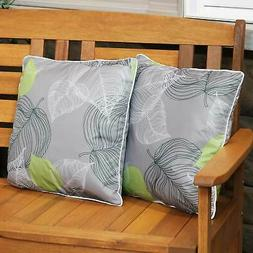Sunnydaze Set of 2 Outdoor Throw Pillows - 16-Inch Square -