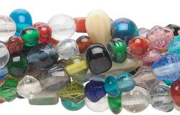 Ten 16 Inch Strands of Assorted 3-6mm Glass Bead Mix